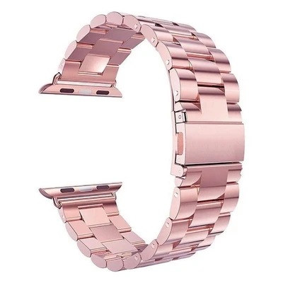 Rose Gold Classic Stainless Steel Apple Watch Band - Standout Bands