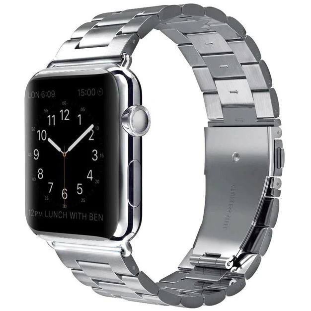 Silver Classic Stainless Steel Apple Watch Band - Standout Bands