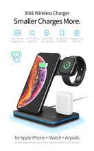 Load image into Gallery viewer, 3 in 1 Wireless Charging Station for Phone/Apple Watch/AirPods