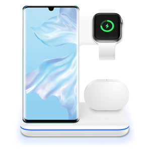 3 in 1 Wireless Charging Station for Phone/Apple Watch/AirPods