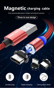 Magnetic USB Cable Fast Charging for Compatible Phones