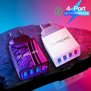 48W Quick Charger Wall Charger 3.0 USB Charger