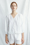 Soft Linen Blouse in White