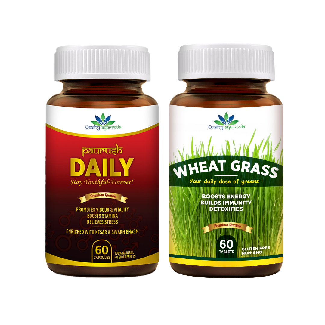 Paurush Daily & Wheat Grass