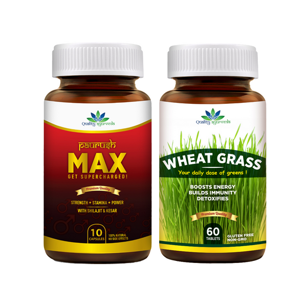 Paurush Max & Wheat Grass