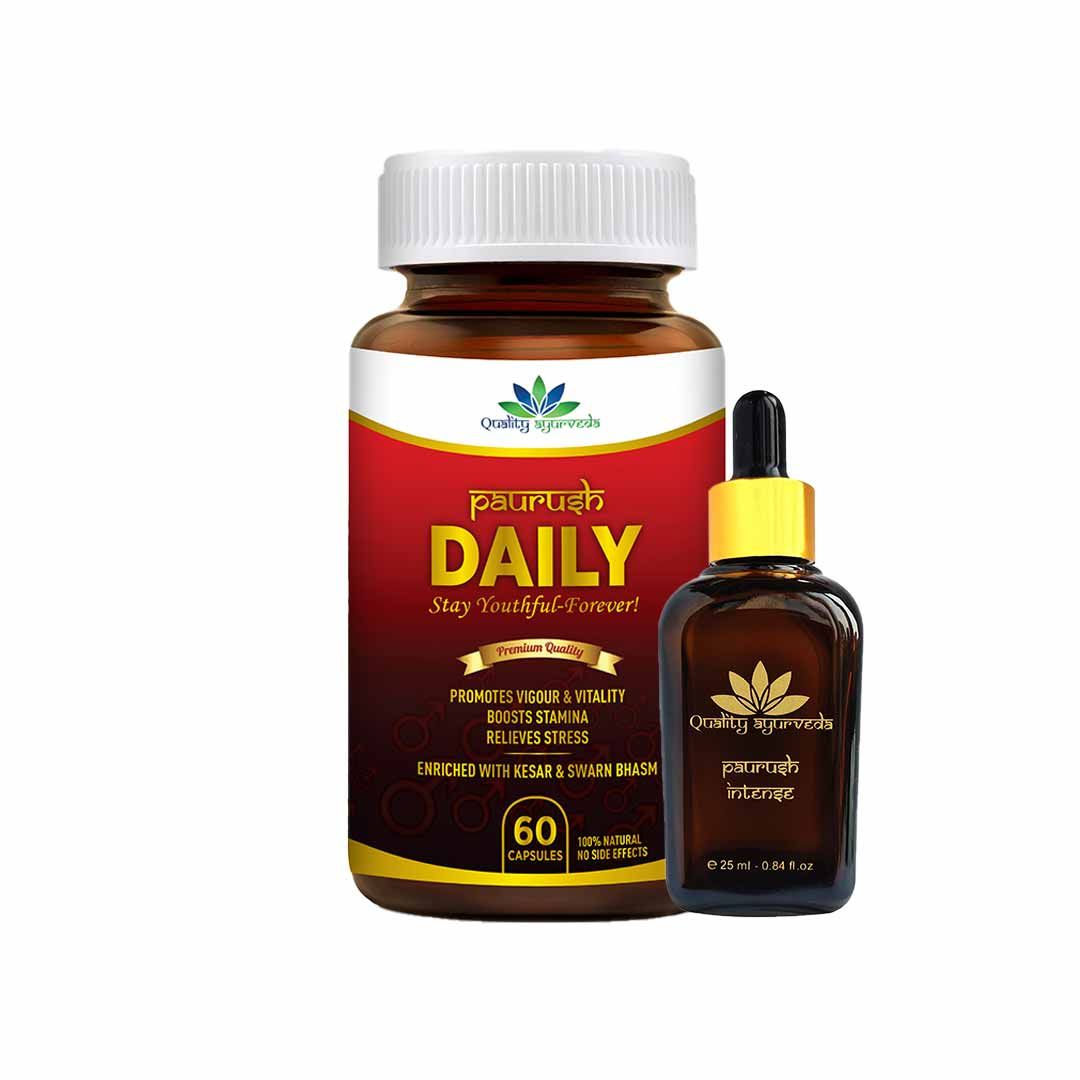 Super Saver Combo - Buy Paurush Daily (60 Caps)  & Intense Oil worth INR 1399