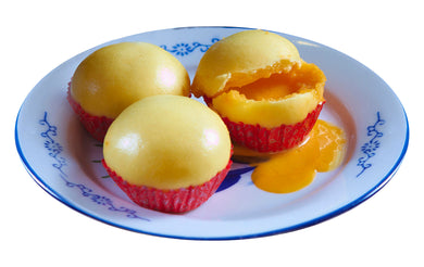 Custard Bun with Egg Yolk Snacks Dimsum Food Favourite