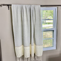 Hand Made Fouta Zahara - 100% Organic Cotton - L Hand Woven, Brings Elegance To Any Room