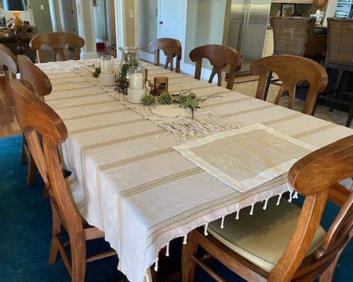 Fouta Ziwana - XL - Elegant Tablecloth & Bed Cover, Xlarge Blanky.