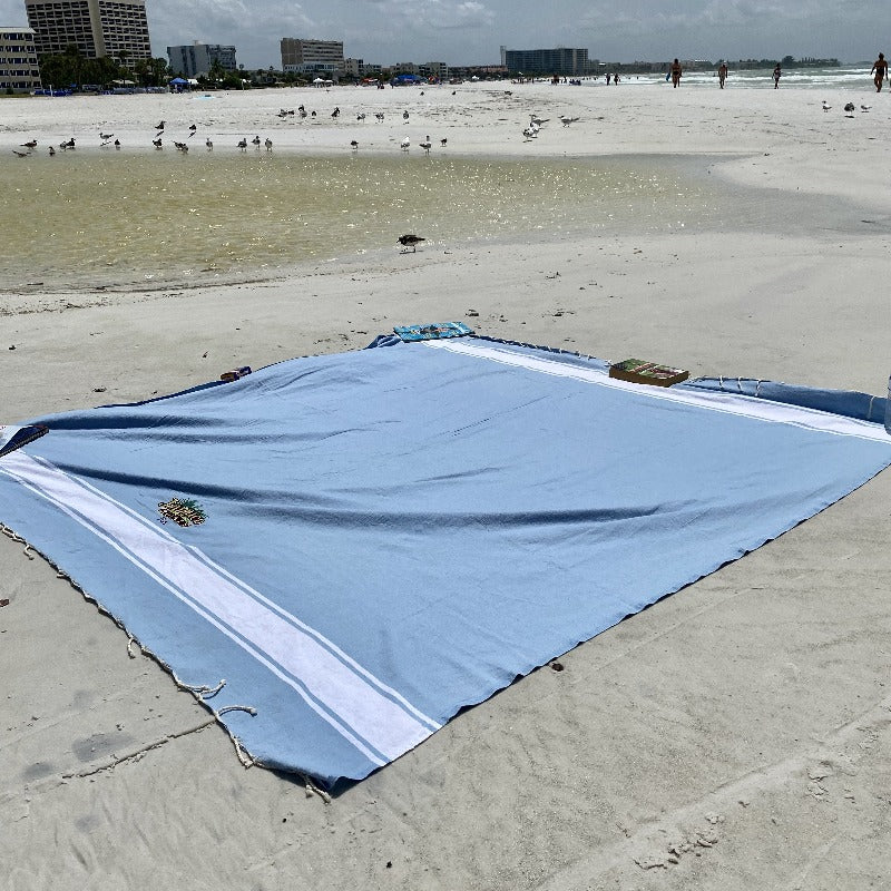 Square Fouta Tunis - Mark your territory at the beach with this XL sized towel