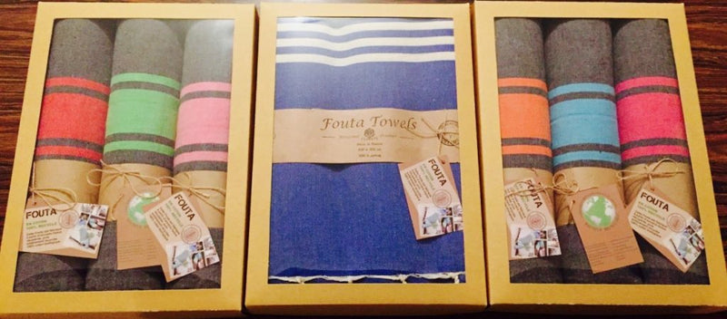 Gift Box with Fouta Towels Inside