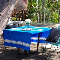 Square Table Fouta Display