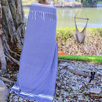 Tunis Fouta Towel - 100% cotton - A classic beach & pool towel, sand free.
