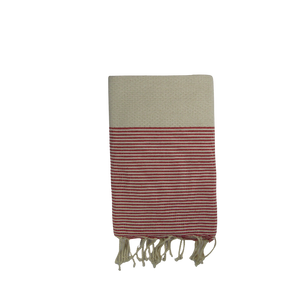 Hammamet Fouta Towel- 100% cotton- Bring the Hammam vibes to your bathroom