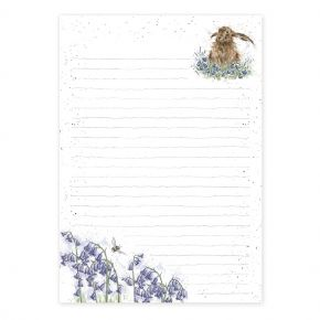 Wrendale Designs Jotter Pad Hare In Bluebells