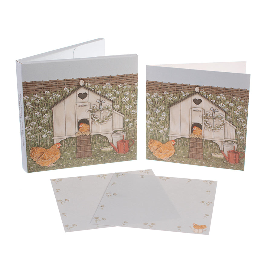 Sally Swannell Notecard Pack 'Hen House'