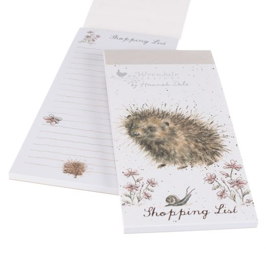Wrendale Designs Magnetic Shopping List Pad Hedgehog