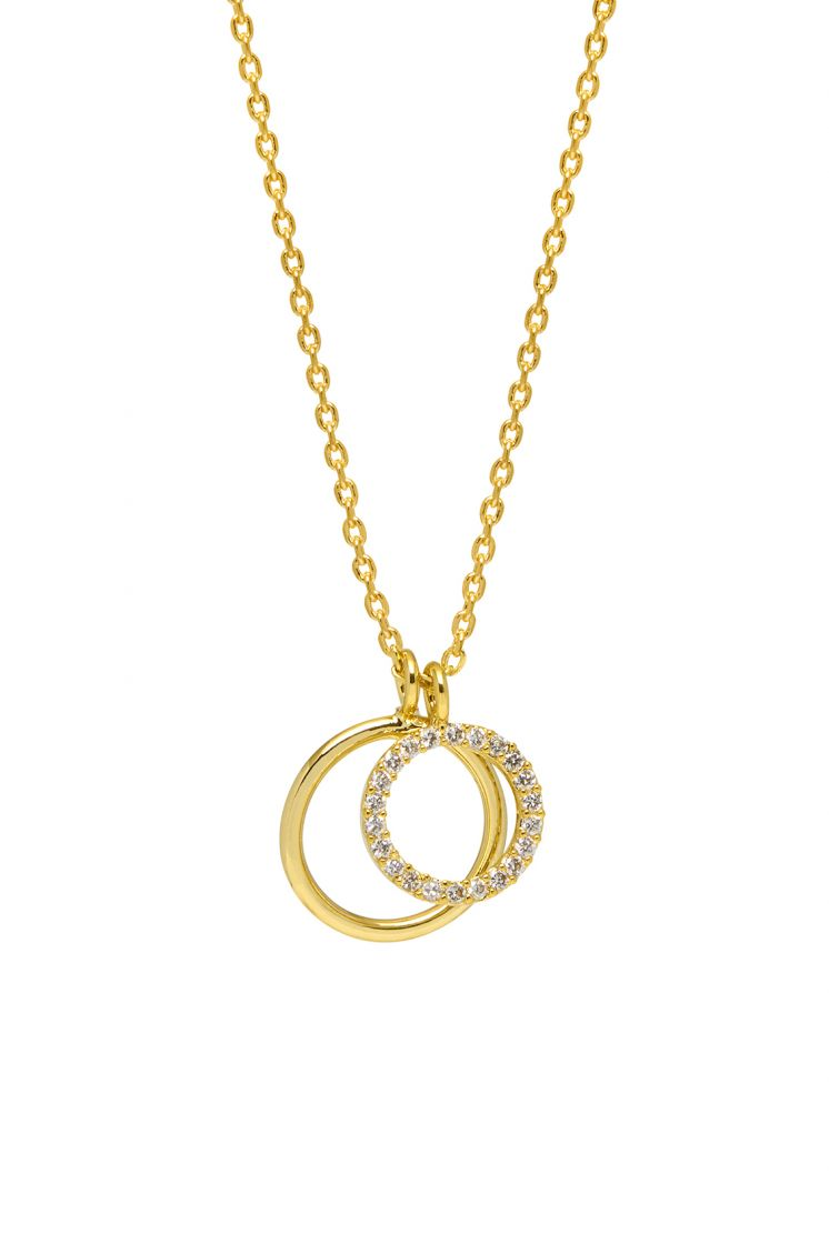 Estella Bartlett Necklace Double Circle Gold Plated
