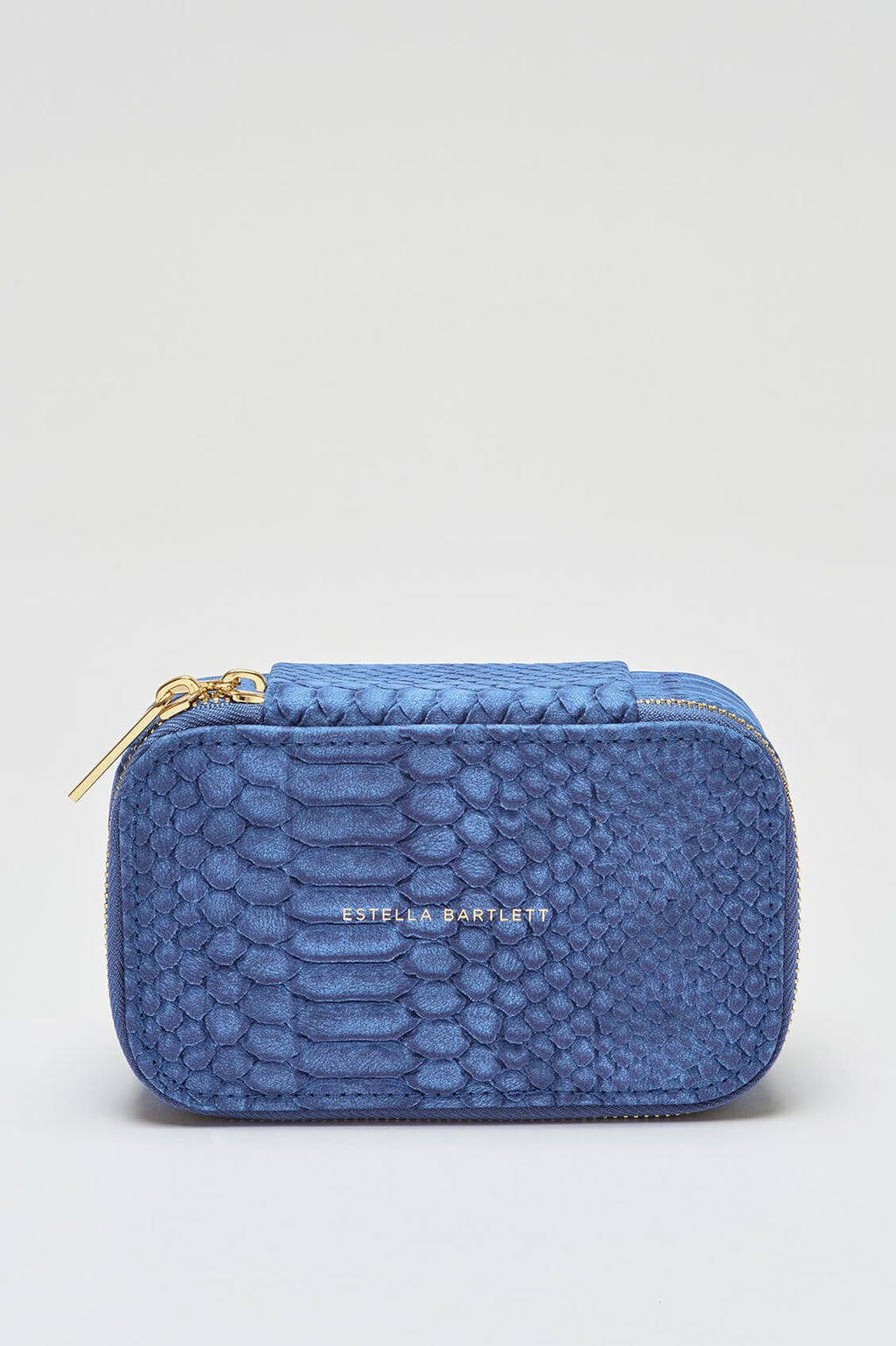 Estella Bartlett Denim Snakeskin Jewellery Box