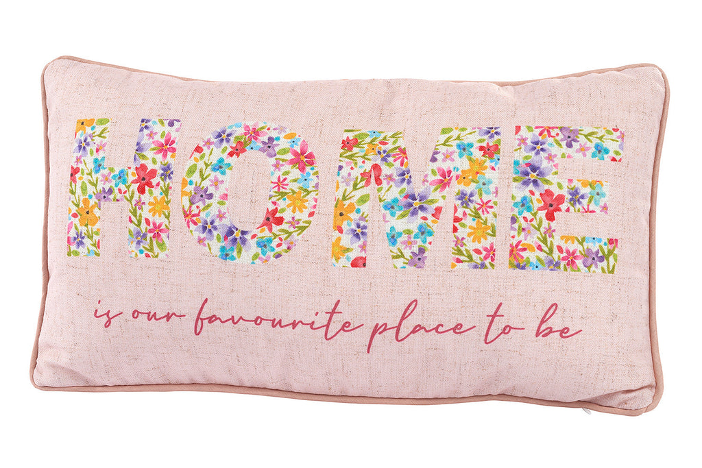 Flower Home Cushion - Pink