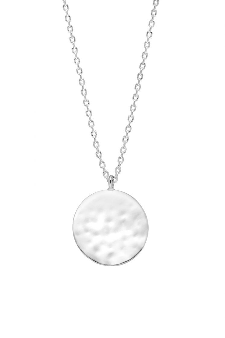 Estella Bartlett - Hammered Disc Pendant