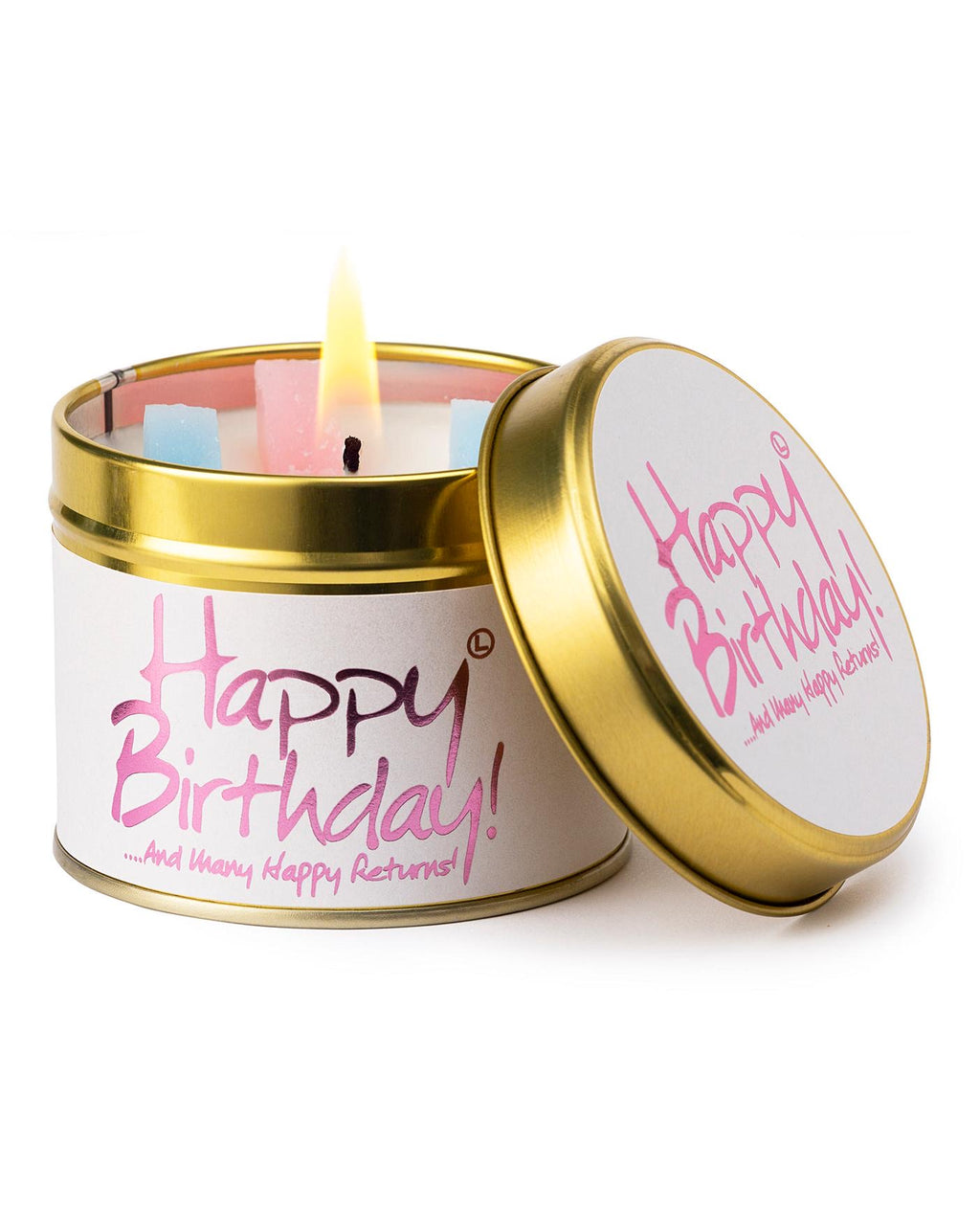 Lilyflame 'Happy Birthday' Tin Candle