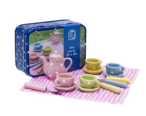 Tea Set In A Tin