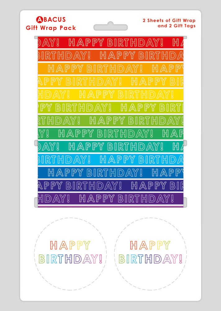 Gift wrap & Tags Pack - Rainbow Stripes