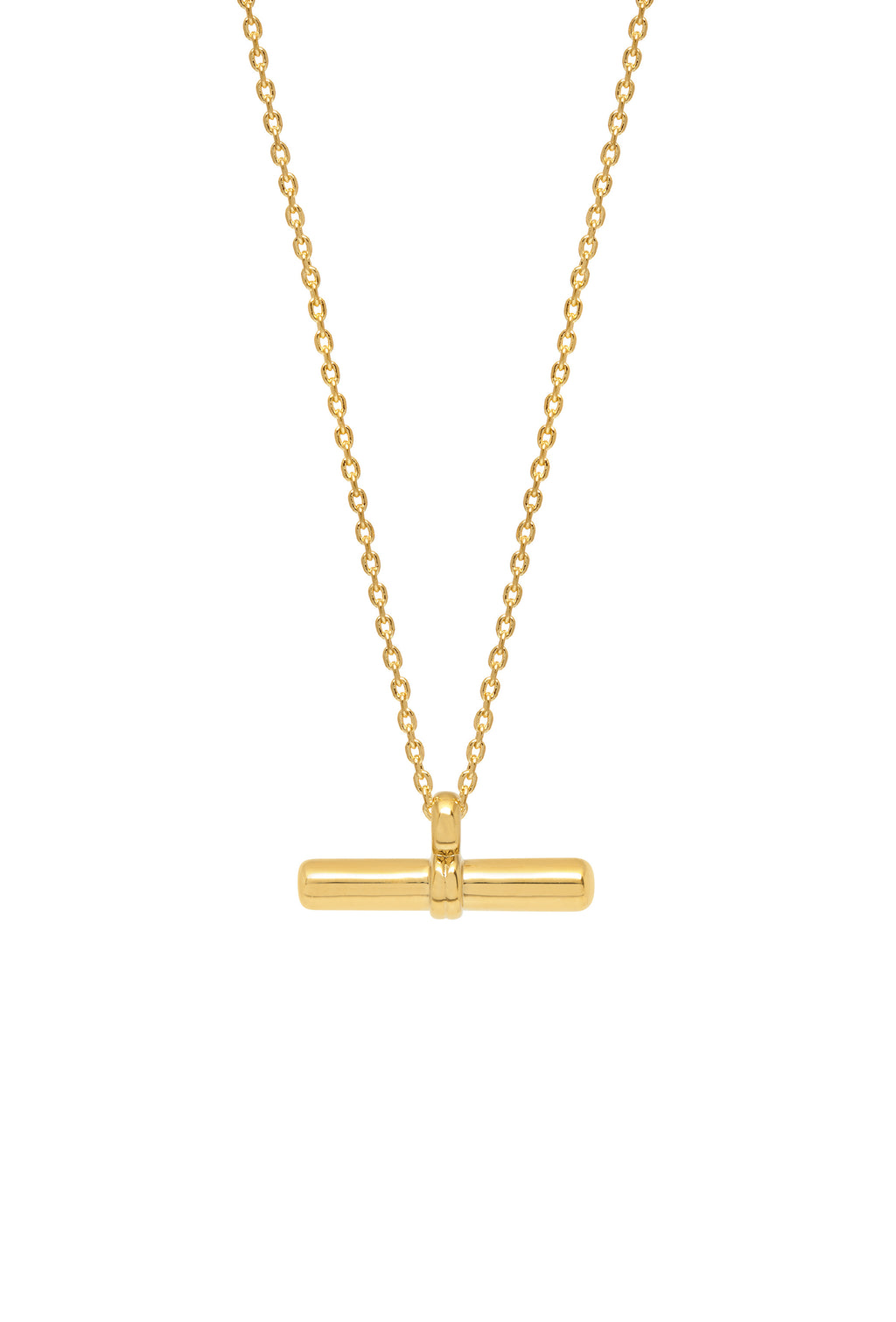 Estella Bartlett - T Bar Gold Plated Pendant