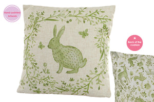 Sage Cottage - Green Hare Cushion