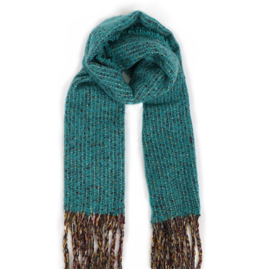 Powder Teal Woolly Blanket Scarf
