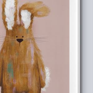 Florence The Bunny - A4 Print - Frame Not Included