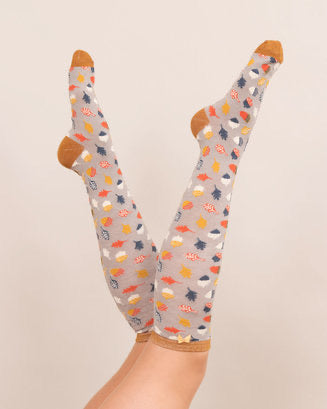 Acorn Knee High Socks
