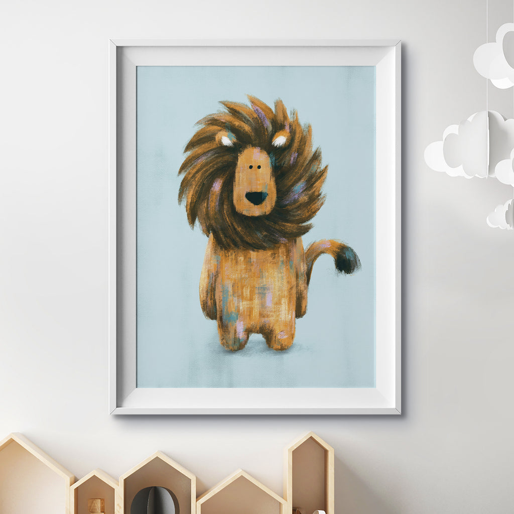 Rory The Lion A4 Print - Unframed