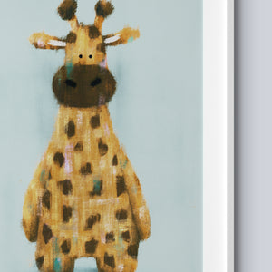 Raffi The Giraffe A4 Print - Frame Not Included