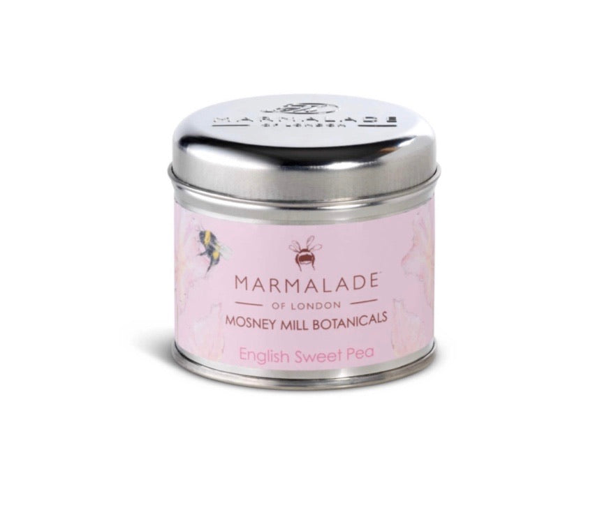 Mosney Mills English Sweet Pea Tin Candle