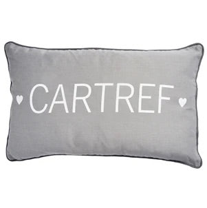 Grey Cartref Piped Cushion