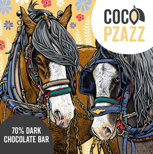 Coco Pzazz - Dark Chocolate Bar - Horses