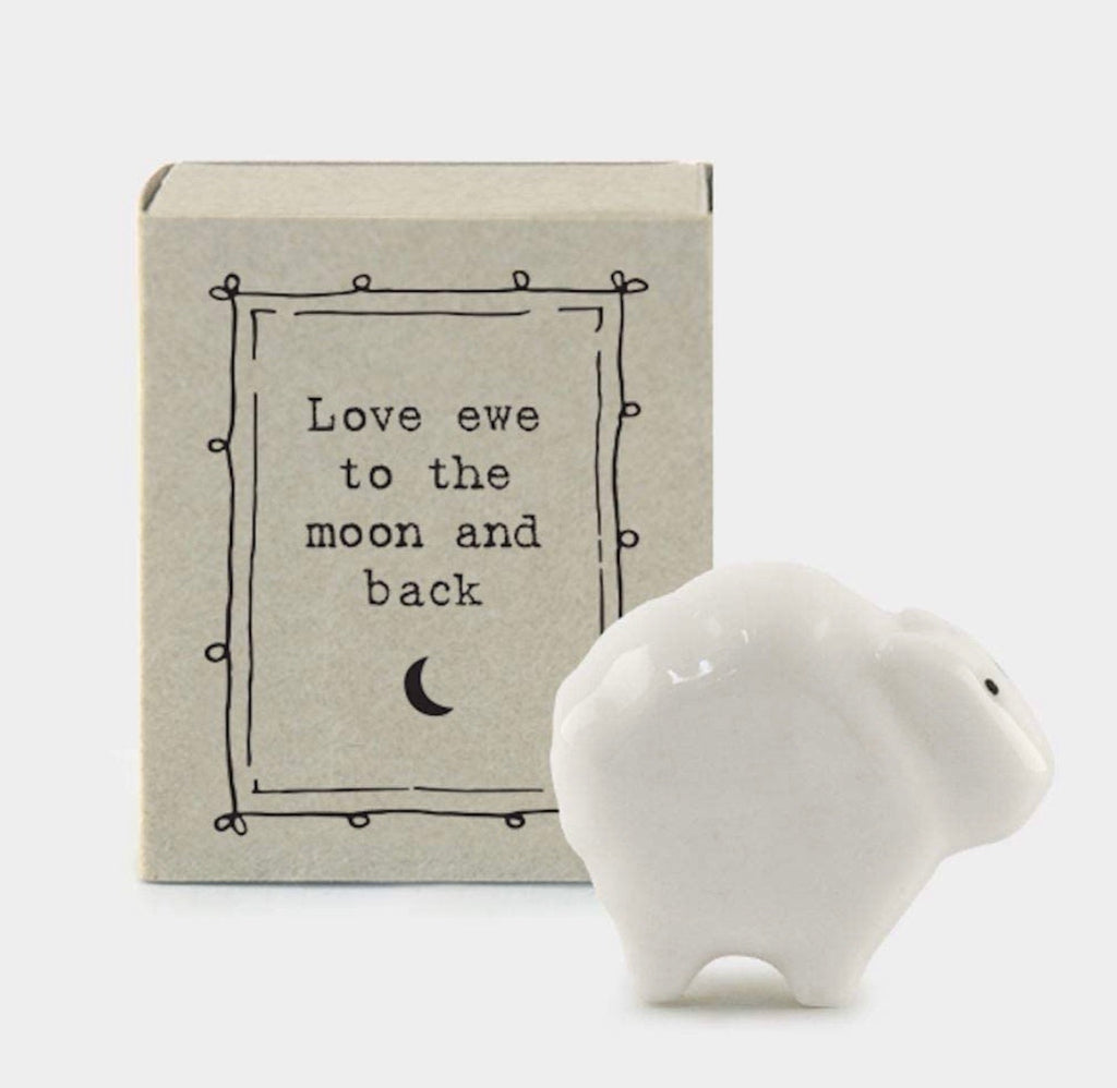 Match Box Porcelain Sheep - Love Ewe to the moon & back