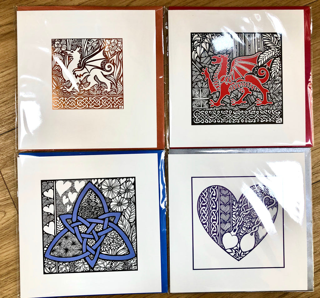 Card Pack - Alff a Bet Welsh Theme Card Pack of 4
