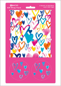 Gift wrap & Tag Pack - Hearts