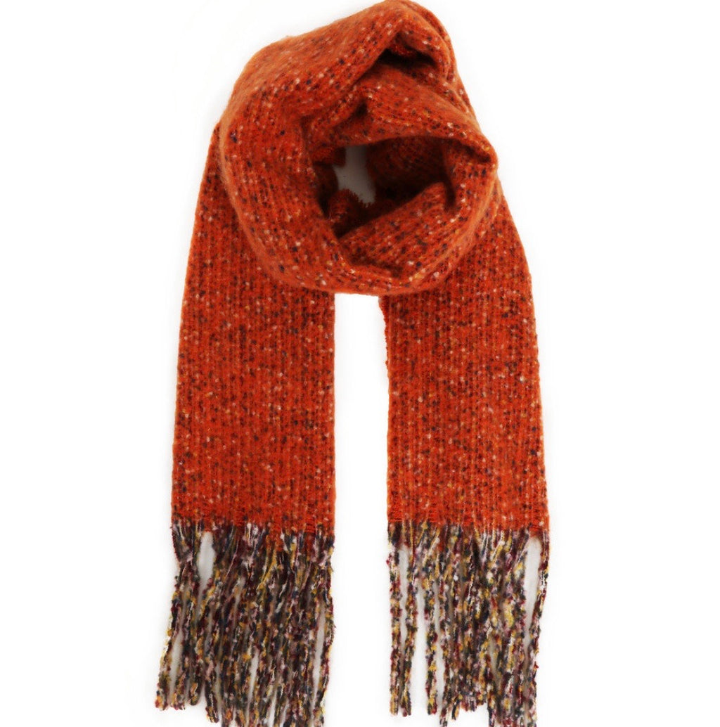 Powder Tangerine Woolly Blanket Scarf