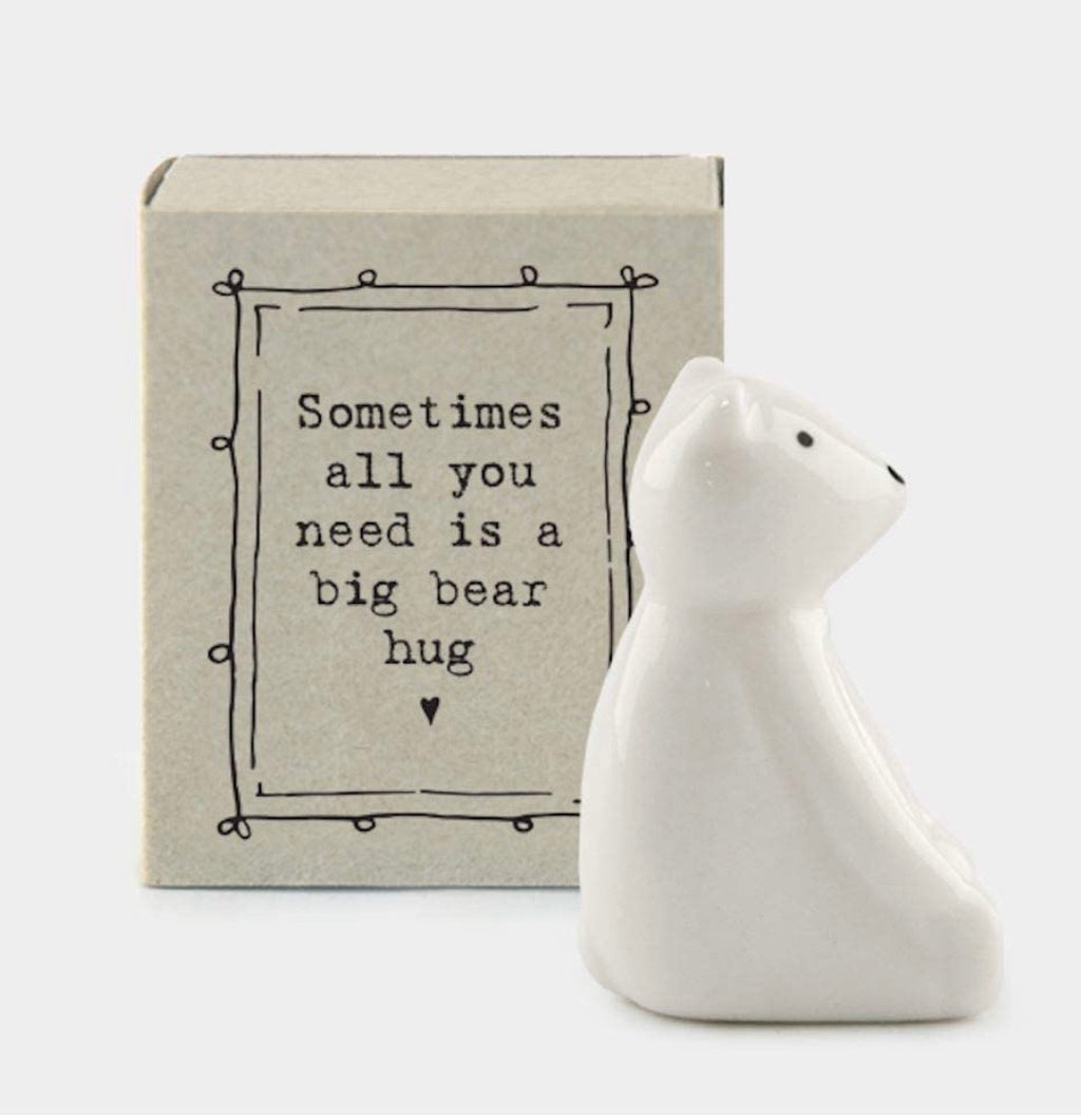 Match Box Porcelain Bear