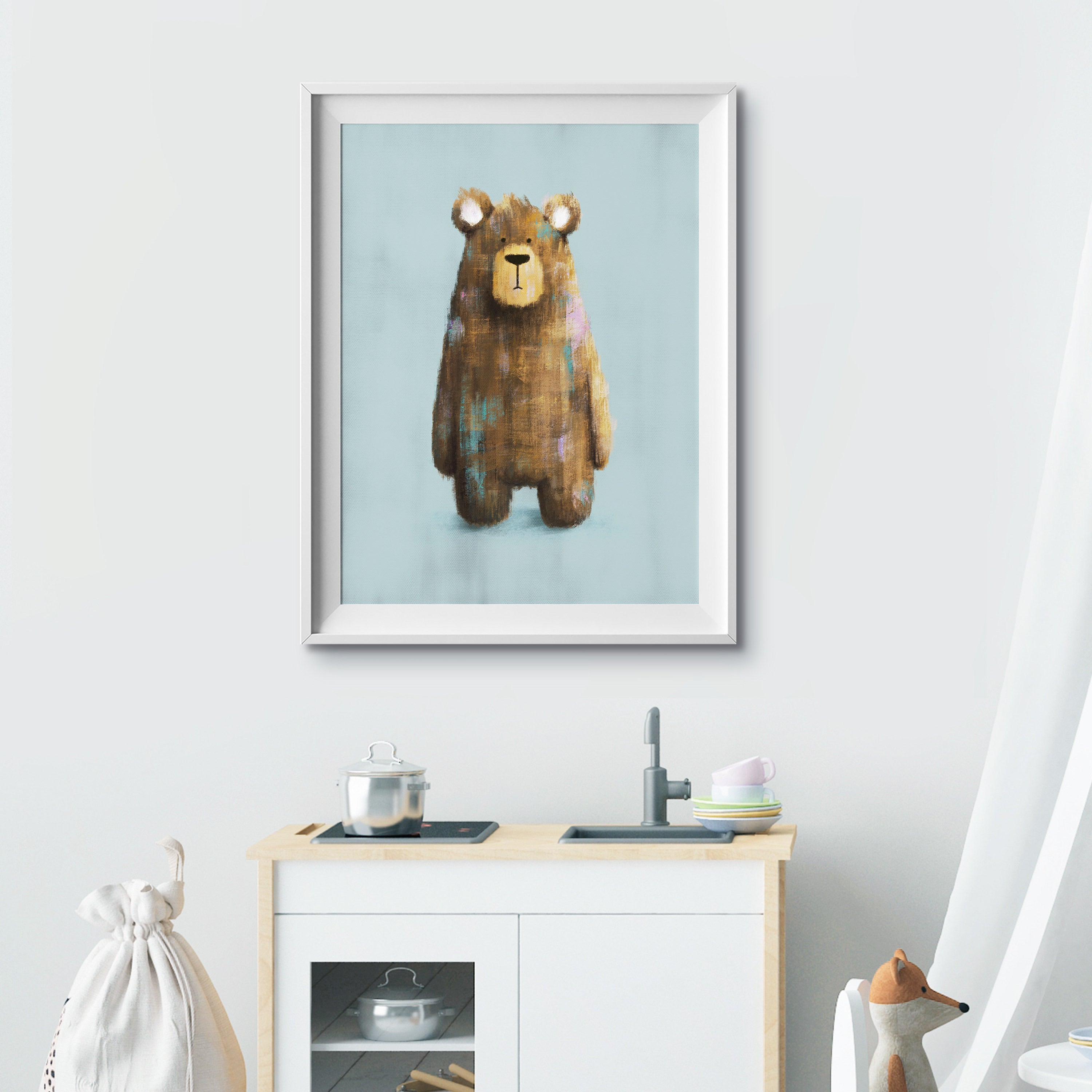 Benji Bear A4 Print - Frame Not Included