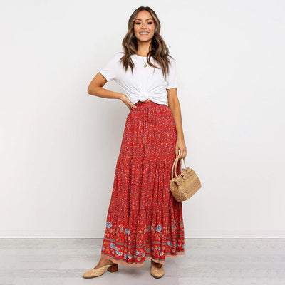 Canola Gypsy Lover Skirt Skirts CROPKOP NO2 Store Red S