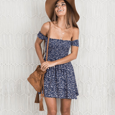 Ancha Girl Next Door Dress Dresses GAOHUI Store Blue S