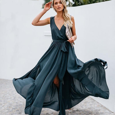 Luna Backless Chiffon Dress Dresses Diosa Divina