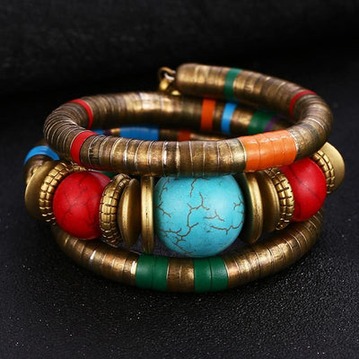 Anuket Ethnic Spiral Bangle Diosa Divina