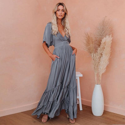 Boho Maxi Dress Summer With Short Sleeves Dresses Diosa Divina