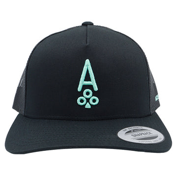 BLACK RETRO TRUCKER - Ace of Clubs Golf Company